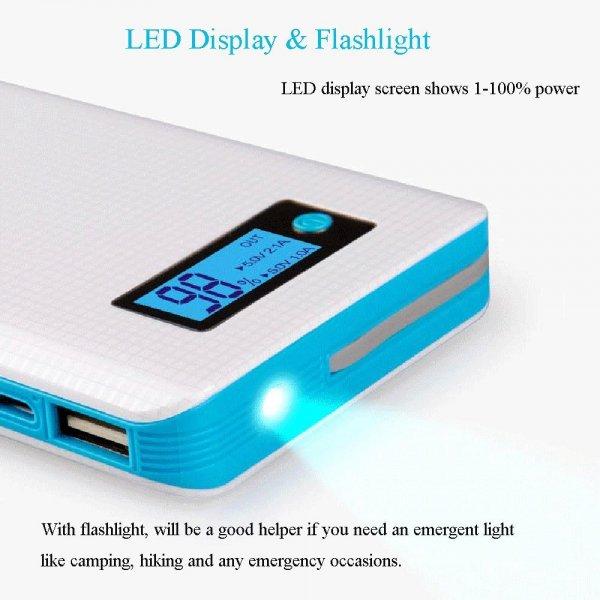 8000mAh Portable External Battery Pack Erweiterte Energien-Bank-Ladegeraet mit LED-Anzeige und LED-Taschenlampe für 15,99 EUR@Amazon.fr