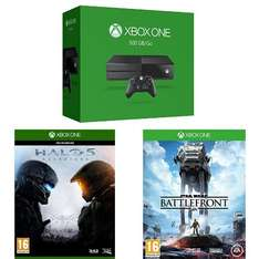 Xbox One + Star Wars : Battlefront + Halo 5 : Guardians für 374,84€ bei Amazon.fr
