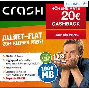 Allnet Flat im D1-Netz mit 1GB Volumen für nur 12,85€ mit Qipu 20€ Cashback