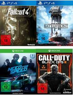 [Saturn] Star Wars: Battlefront ,Fallout 4,Call of Duty: Black Ops 3, Need for Speed jeweils für PS4/XboxOne für je 49,99€ mit Newslettergutschein und Abholung