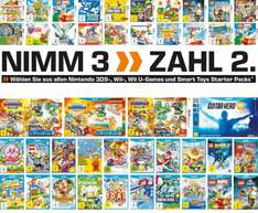 Saturn 3 für 2 auf Nintendo 3DS, WiiU & Wii z.B. 3x The Legend of Zelda - Twilight Princess HD (Limited Edition) ab 159,96€ + ggf. Versand