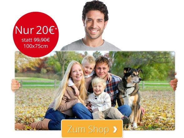 [ MeinXXL ] Bild auf Leinwand mit 2cm Keilrahmen (75x100cm) für nur 20 € + 6,90 Versand