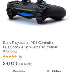 PS4 Dualshock Controller Refurbished 39,90€