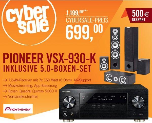 Pioneer VSX-930 mit Quadral Quintas 5000 für 699€ - 7.2 AV-Receiver mit 5.0 Lautsprecher-Set