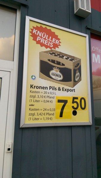 [Dortmund Aplerbeck] Dortmunder Kronen Pils / Export der Kasten 7,50€ + Pfand