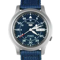 [Amazon] Seiko 5 Herrenuhr - SNK807K2 Automatik in blau