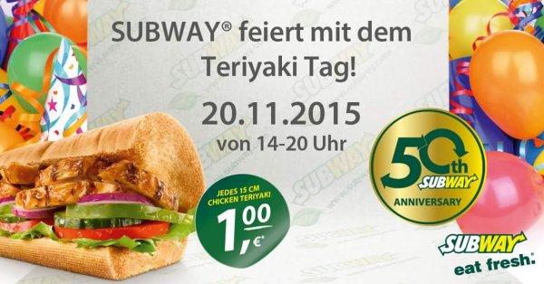 (Leipzig) Subway Teriyaki 1€