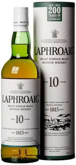 [amazonPrime] Laphroaig 10 Jahre Islay Single Malt Scotch Whisky (1 x 0.7 l) 23,99 €