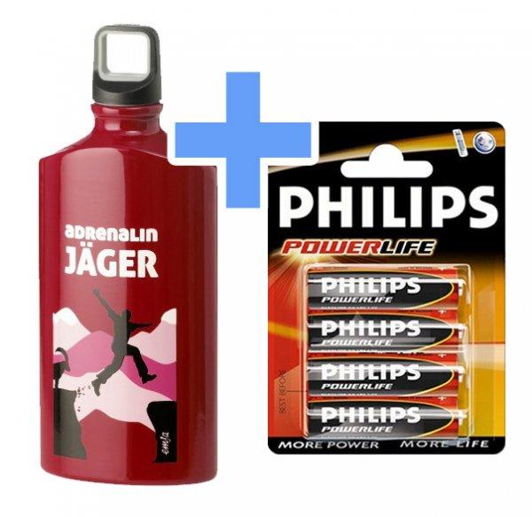 [top12.de] Emsa Alu-Trinkflasche + Philips AA-Batterien, rund 72% Ersparnis