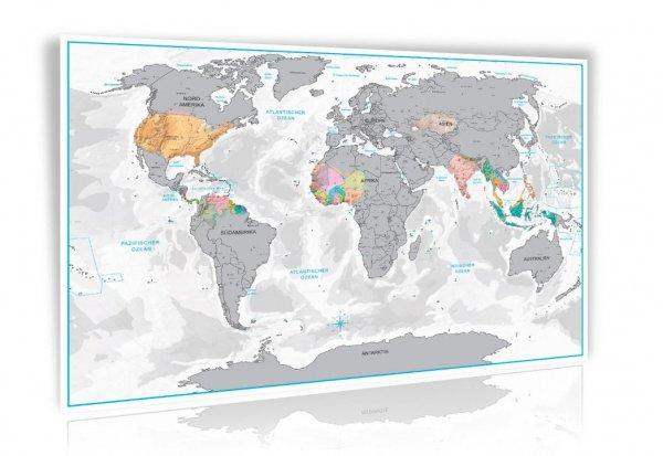 [Amazon] Rubbel Weltkarte in Gold/Silber mit Berg und Ozean Relief in 3D-Optik für 9,97€ inkl. Versand
