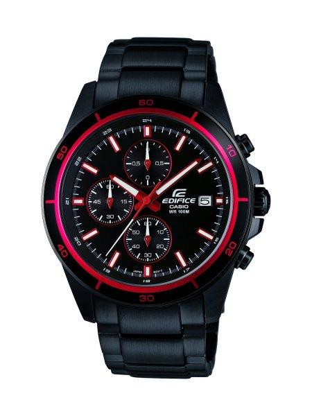 [Amazon.de] Casio Herren-Armbanduhr XL Edifice Chronograph Analog Quarz Edelstahl EFR-526BK-1A4VUEF für 64,62€