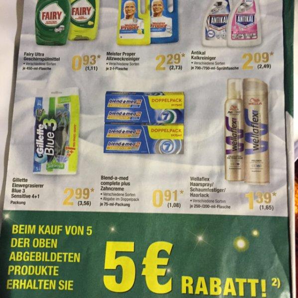 Fairy Ultra - 5 Stück kaufen, 5€ Rabatt - Metro / Zahnpasta für 0,5€ / Haarspray für 0,6€