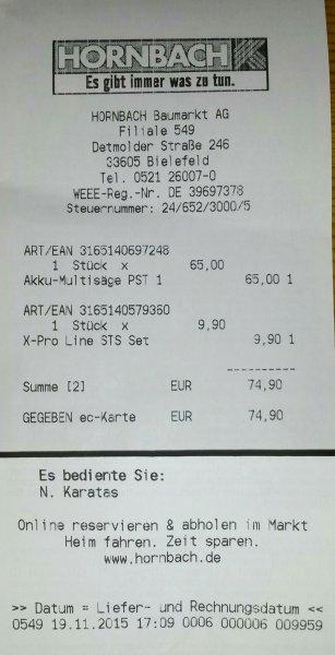 [lokal? - Hornbach BI] Bosch PST 10,8 LI Akku-Stichsäge für 65€