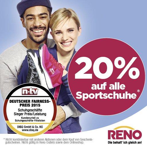 [RENO offline] 20 % auf alle Sportschuhe // zBsp. Adidas Galaxy M für 22,37€