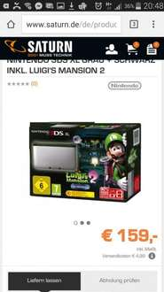 [Saturn] Nintendo 3ds XL + Luigis Mansion 2