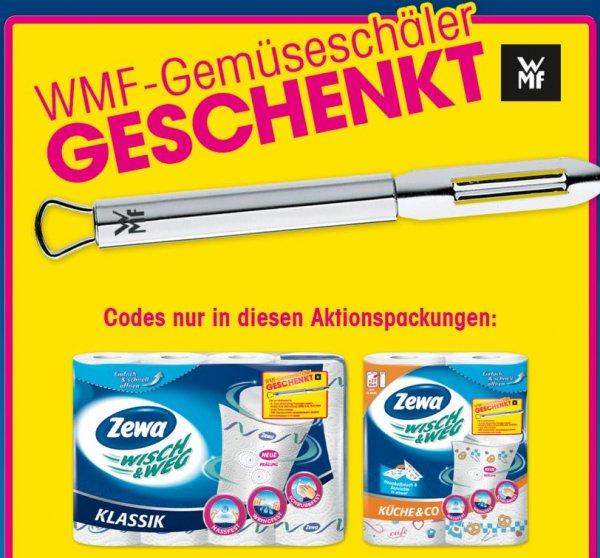 3 x ZEWA Wisch & Weg kaufen und gratis WMF Gemüseschäler erhalten