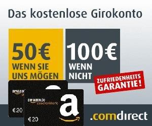 comdirect - Bis zu 190EUR für Neukunden (140 für Neukunden und 50EUR für die Kündigung innerhalb von 12 Monaten) + 50EUR KWK