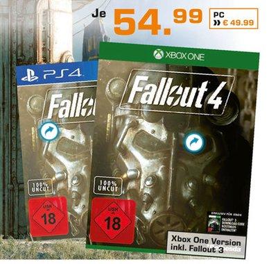 [SATURN Darmstadt+Weiterstadt] Fallout 4 und Fallout 3 (Xbox One) zusammen für 54,99€