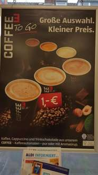 Lokal Aldi Bonn-Beuel: Gratis Coffee to go