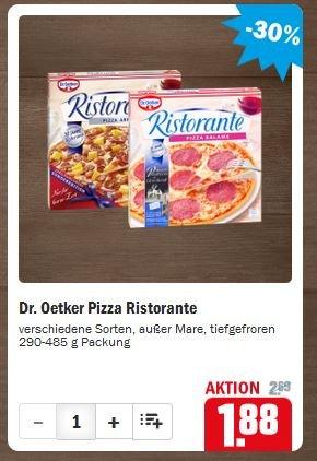 [Offline, ggf. lokal] Dr. Oetker Pizza Ristorante [bei HIT] für 1,38€ (Angebot und Coupon)