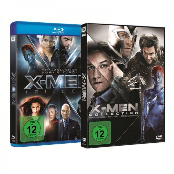 X-Men Trilogie (3-BluRays + Bonus BluRay) oder 4 DVD-Box Set je 9,99 Euro und mit Mehrfachbestellungen weitere günstige 2-BluRay Sets ab 7,99