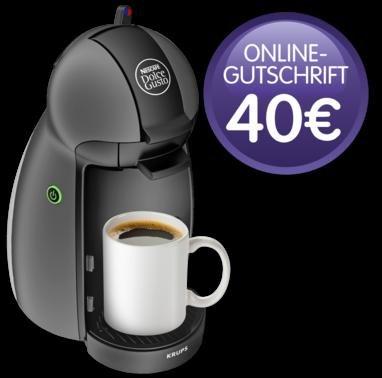 [Penny] KRUPS NESCAFÉ DOLCE GUSTO Kaffee-Kapsel-Maschine PICCOLO KP-100B für 34,99 inkl. 40€ Online-Gtuschrift