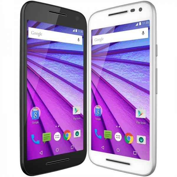 Motorola G 2015 (3. Generation), schwarz und weiß, NEU und OVP
