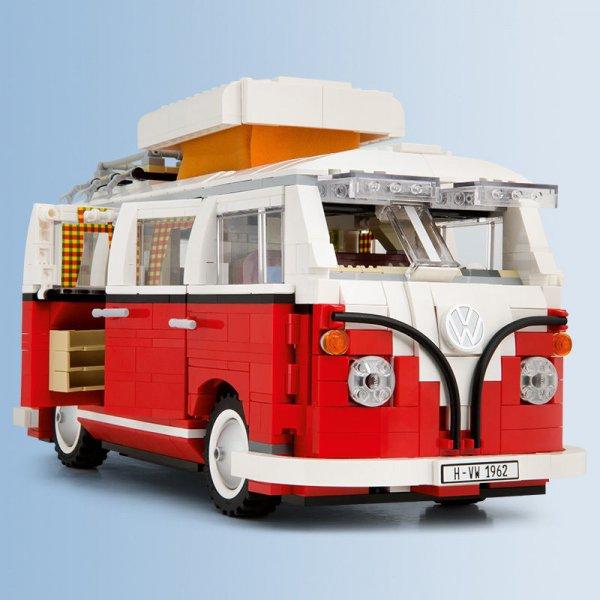 @eBay Volkswagen LEGO Campingbus 81€, Klassiker von 1962, VW T1 / Bulli mit Safari-Fenster, Aufstelldach