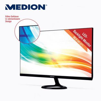 "ALDI Nord & Süd: MEDION® 68,6 cm (27"") LED-Backlight-Monitor im Rahmenlosen-Design"