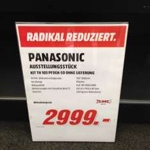 "[lokal] 96% Rabatt auf 103"" Panasonic"