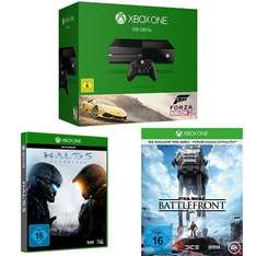Xbox One 500GB Forza Horizon 2+ Halo 5+ Battlefront für 369€ @Amazon.de