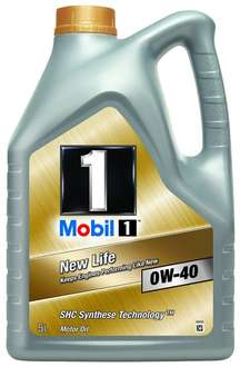 [Amazon Blitzangebot] Mobil 1 New Life Motoröl 0W40 5L