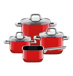 [Galeria Kaufhof]  Silit Topf Set Quadro Red 4-teilig + 10-fach Paybackpunkte (24,90€) alle Herdarten made in Germany