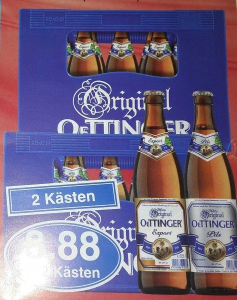 (Lokal) 2 Kästen Oettinger Bier für 8,88 Euro bei Edekea in Alzenau, Mömbris und Schöllkrippen