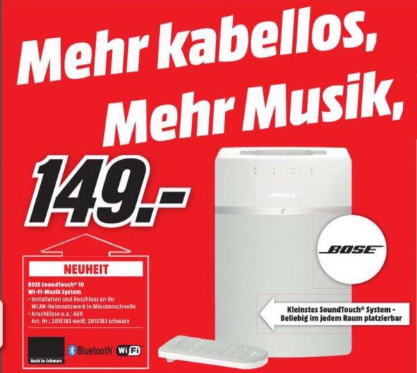 Bose Sound Touch 10 weiß für 149€ | Mediamarkt Bielefeld