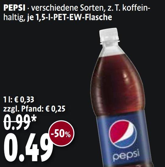 [KAISERS/TENGELMANN] Pepsi versch. Sorten 1,5l für 0,49€