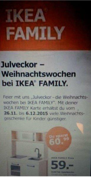 IKEA Köln-Godorf: Kinder-Küche für 59 Euro (statt 119,95 Euro) - Family Card notwendig (wahrscheinlich sogar bundesweit)