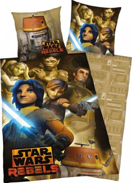 [Amazon.de-Prime] Bettwäsche Star Wars Rebels , Kopfkissenbezug 80 x 80 cm und Bettbezug 135 x 200 cm, 100 % Baumwolle, flanell / biber
