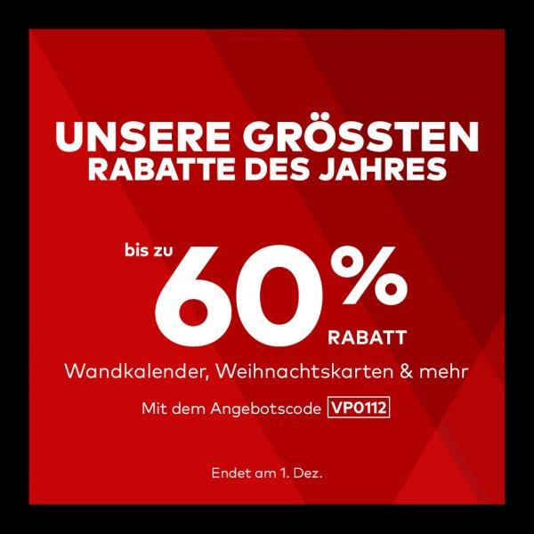 Vistaprint  bis zu 60 % Rabatt – Die größte Rabattaktion des Jahres