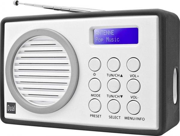 DAB+ Radio Dual DAB 81 Kofferradio Grau, Weiß für 27,45 € (Idealo 40 €) @ Conrad.de