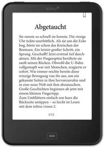 Tolino Vision 2 E-Ink eBook Reader für 89€