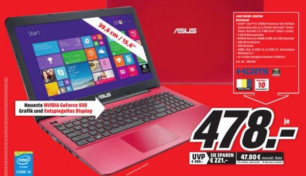(lokal MM Plauen) Asus Notebook R556lf-XO078H 478EUR