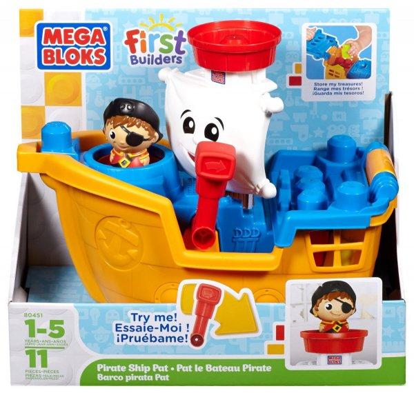 (Spielzeug/Prime) Mega Bloks First Builders, Pat das Piratenschiff für 16,50 €