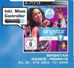 ** SATURN PS3 SINGSTAR DANCE INKL. MOVE CONTROLLER ** 49€
