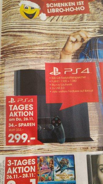 Playstation 4 PS4 500GB nur 299€ bei Libro Österreich - am 26.11.