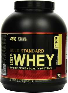 Optimum Nutrition 100 % Whey Gold Standard Protein French Vanilla Cream, 1er Pack (1 x 2,273 kg)