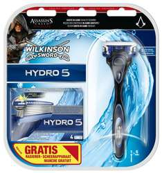 [Amazon] (abgelaufen) Wilkinson Sword Hydro 5 Vorteilspack, 5 Klingen plus Rasierer Assassins Creed Edition für 7€