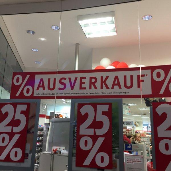 25% auf fast alles Rossmann Berlin Eastgate