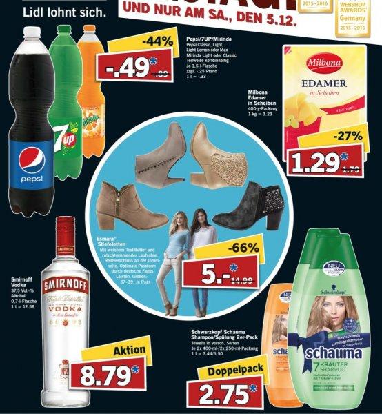 """[Lidl/Bundesweit] Pepsi/ 7UP/Mirinda für 0,49€/1,5L und weitere Dinge am """"Supersamstag"""" dem 05.12.2015"""