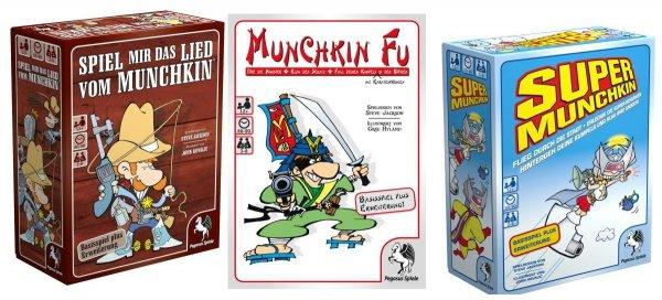 Diverse Munchkin Boxen mit Zusatzpacks (Kartenspiel, Gesellschaftsspiel, Thalia.de)